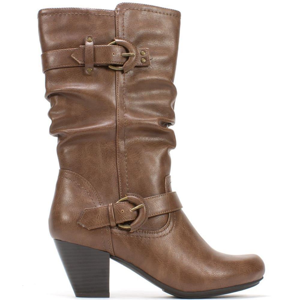 RIALTO Women's Coralynn Buckle Boots - TOBACCO