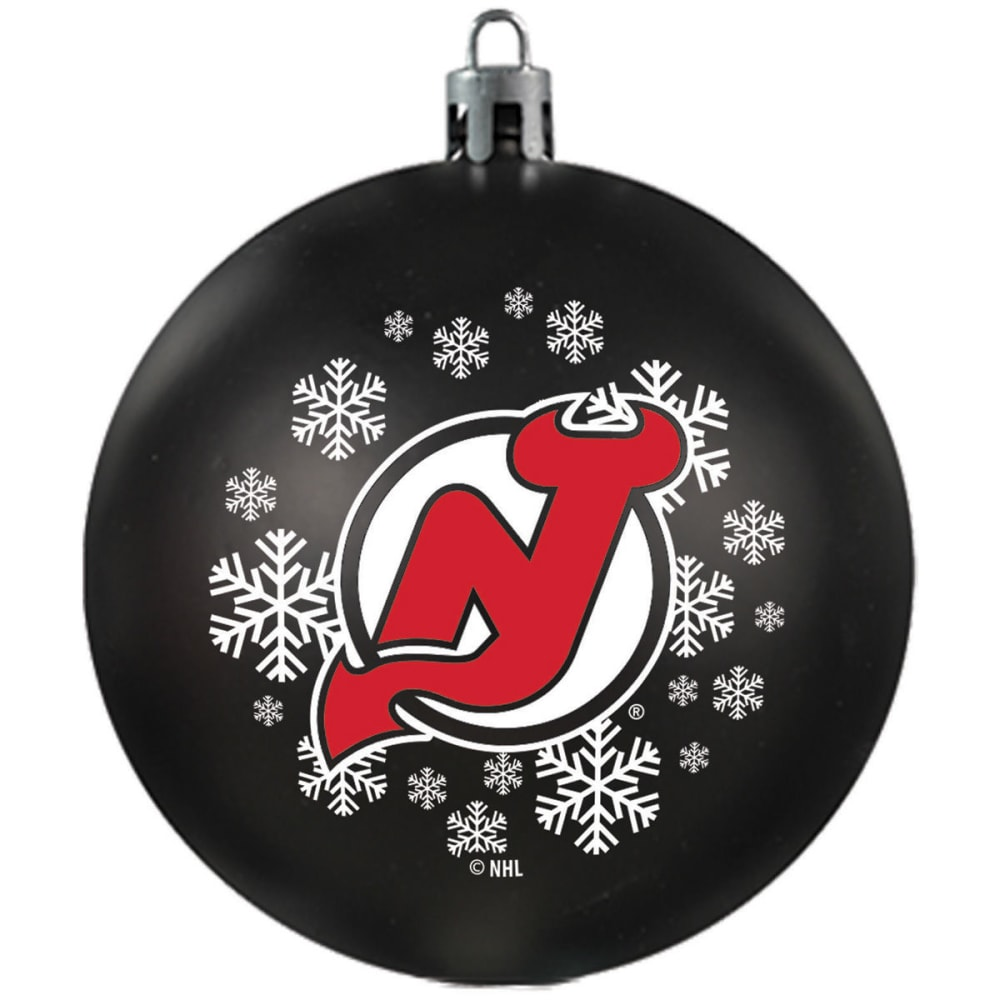 NEW JERSEY DEVILS Shatterproof Ball Ornament - RED