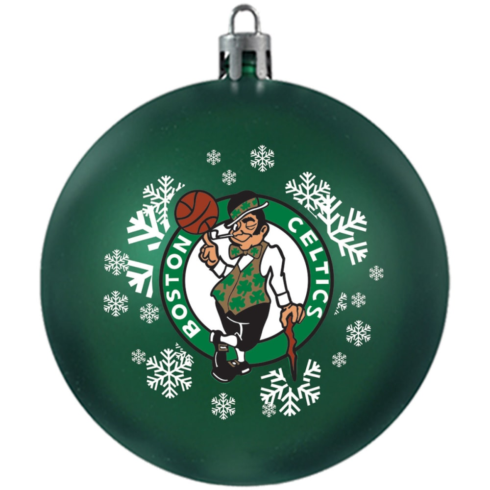 BOSTON CELTICS Shatterproof Ball Ornament - GREEN