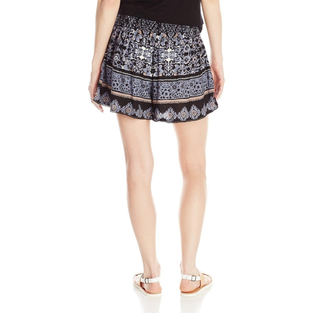 ANGIE Juniors' Printed Shorts - FK23-BLACK