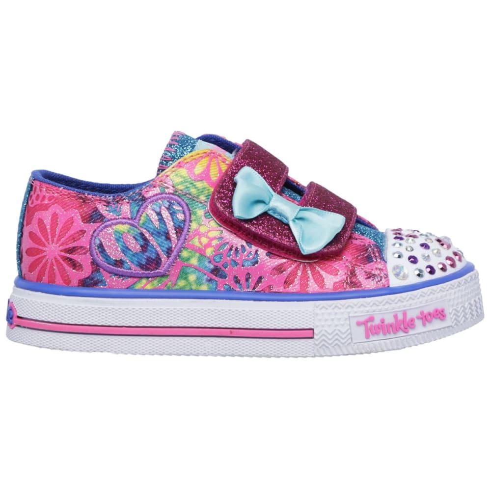 SKECHERS Girls' Twinkle Toes: Shuffles- Baby Love Sneakers - HOT PINK