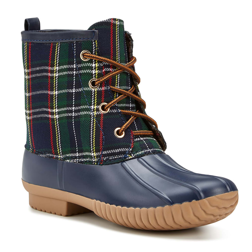 YOKI Women's Dylan-40 Plaid Boots - NAVY PLAID