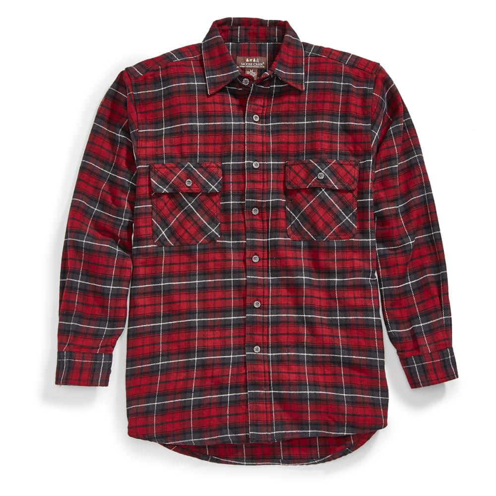 MOOSE CREEK Men's Tall Brawny Flannel Shirt - 140 BRICK