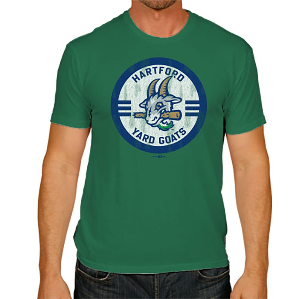 HARTFORD YARD GOATS Men's Round Logo Short-Sleeve Tee - GREEN