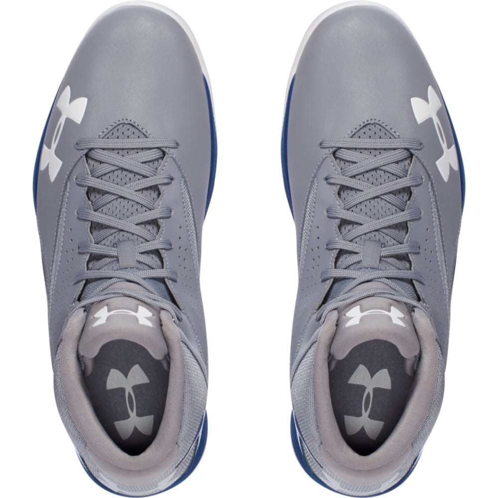 UNDER ARMOUR Men's Lockdown Basketball Shoes - GREY