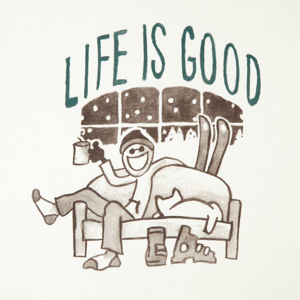 LIFE IS GOOD Men's Apres Ski Painted Long-Sleeve Crusher Tee - SIMPLY IVORY