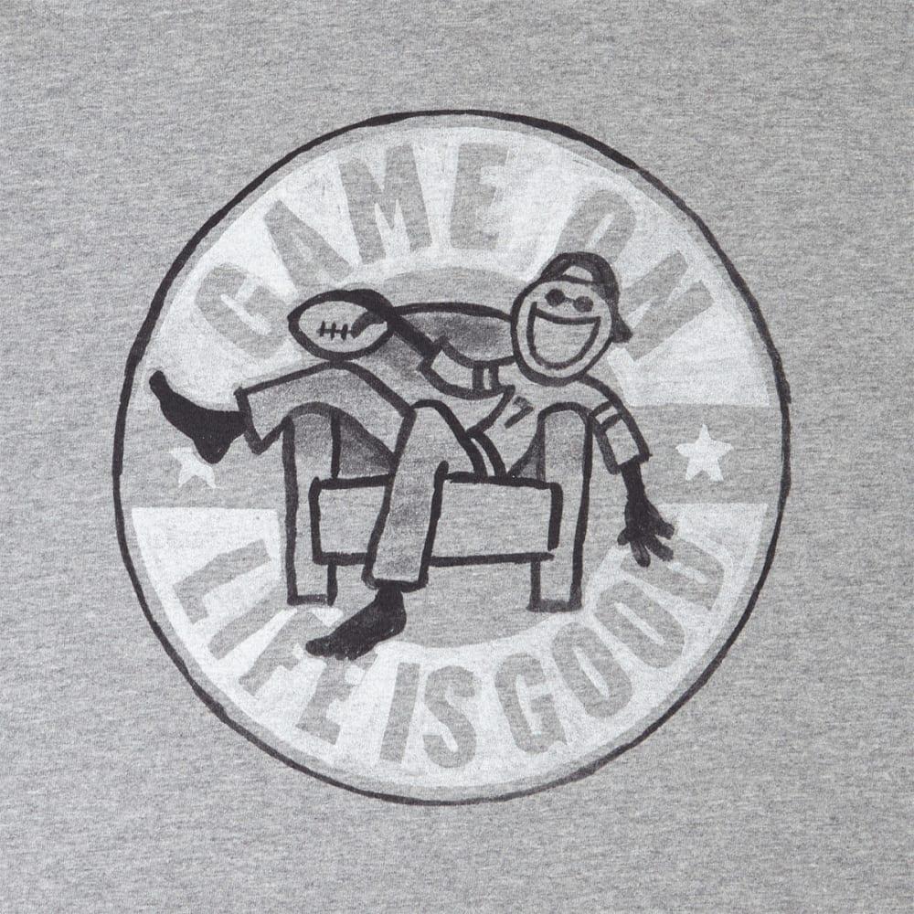 LIFE IS GOOD Men's Game On Football Long-Sleeve Crusher Tee - HEATHER GRAY