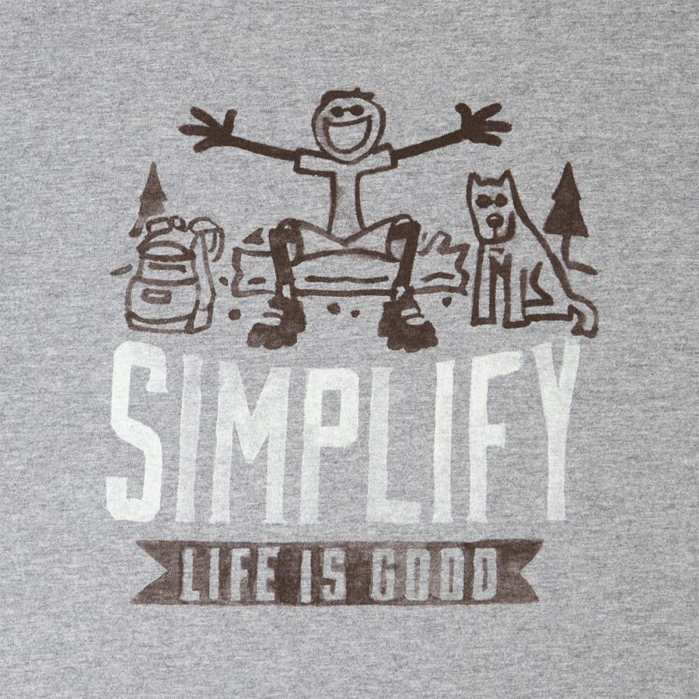 LIFE IS GOOD Men's Simplify Life Short Sleeve Crusher Tee - HEATHER GRAY