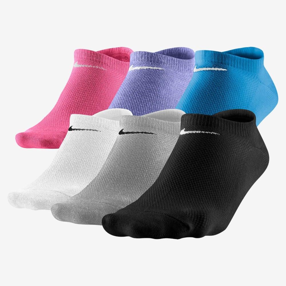 NIKE Women's Lightweight No-Show Socks, 6 Pack - ASSORTED 964