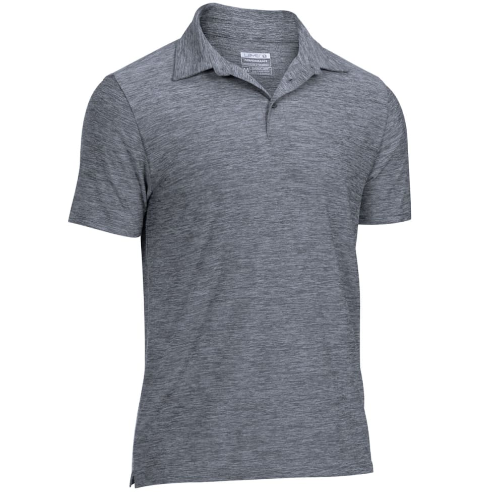 LAYER 8 Men's Stretch Chunky Heather Polo - GYM GREY-GHE