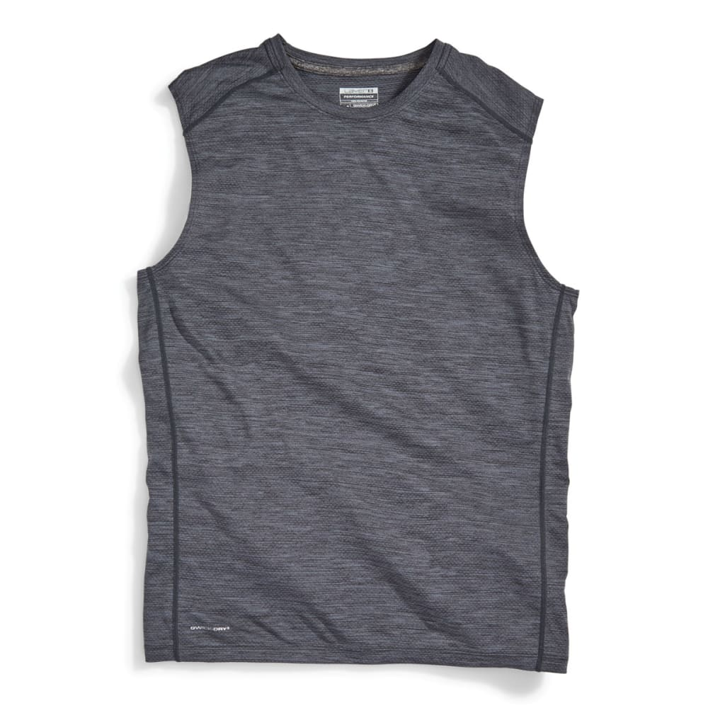 LAYER 8 Men's Chain Mesh Heather Muscle Tee - GREYSTONE-GYT