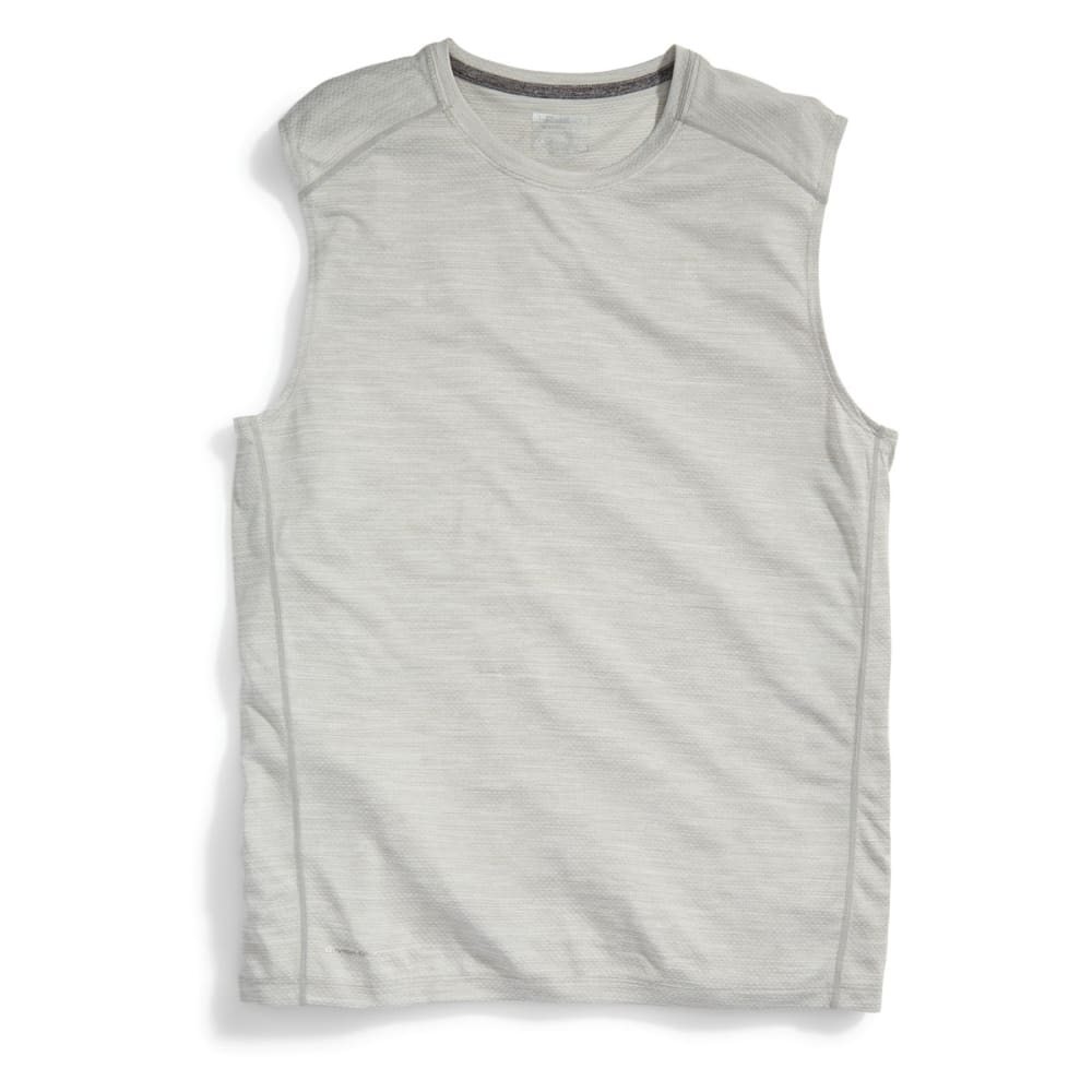 LAYER 8 Men's Chain Mesh Heather Muscle Tee - SOFT SILVER-SSF