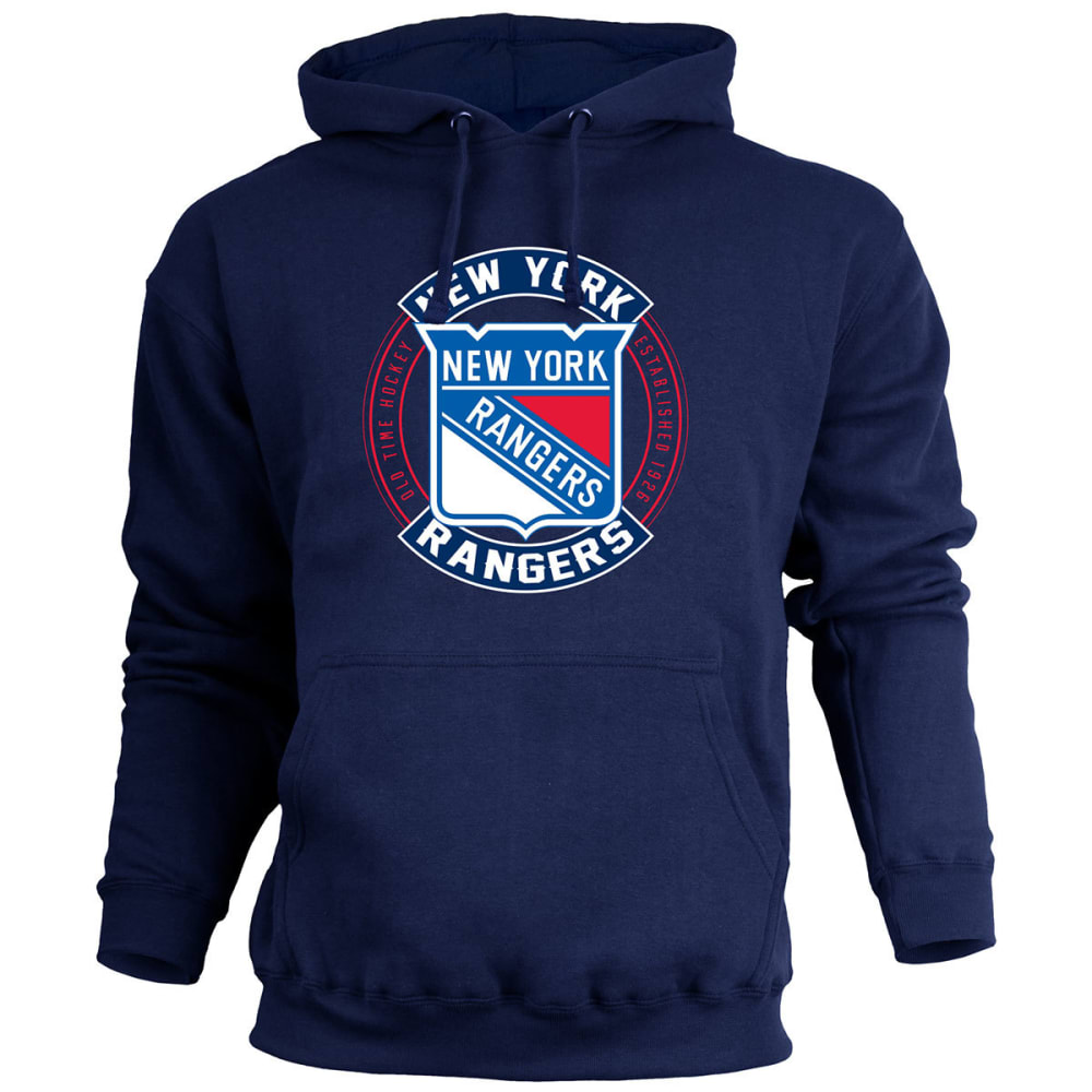 NEW YORK RANGERS Men's ATown Pullover Fleece Hoodie - NAVY