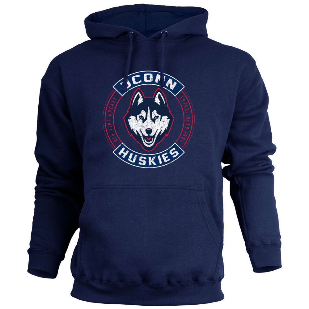 UCONN Men's ATown Pullover Fleece Hoodie - NAVY