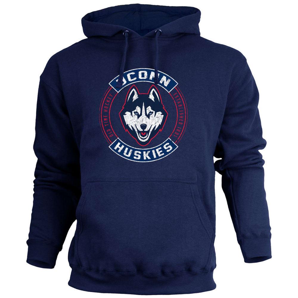 UCONN Men's ATown Pullover Fleece Hoodie - NAVY