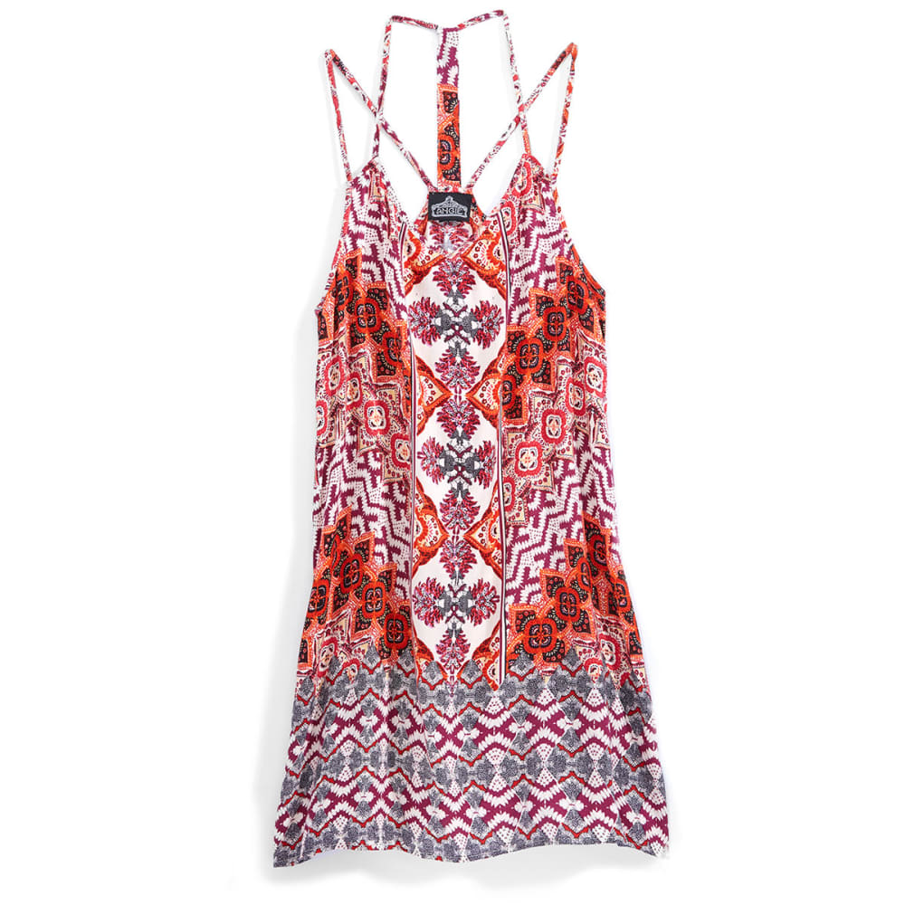ANGIE Juniors' Double Strap Boho Dress - A536-PRINT