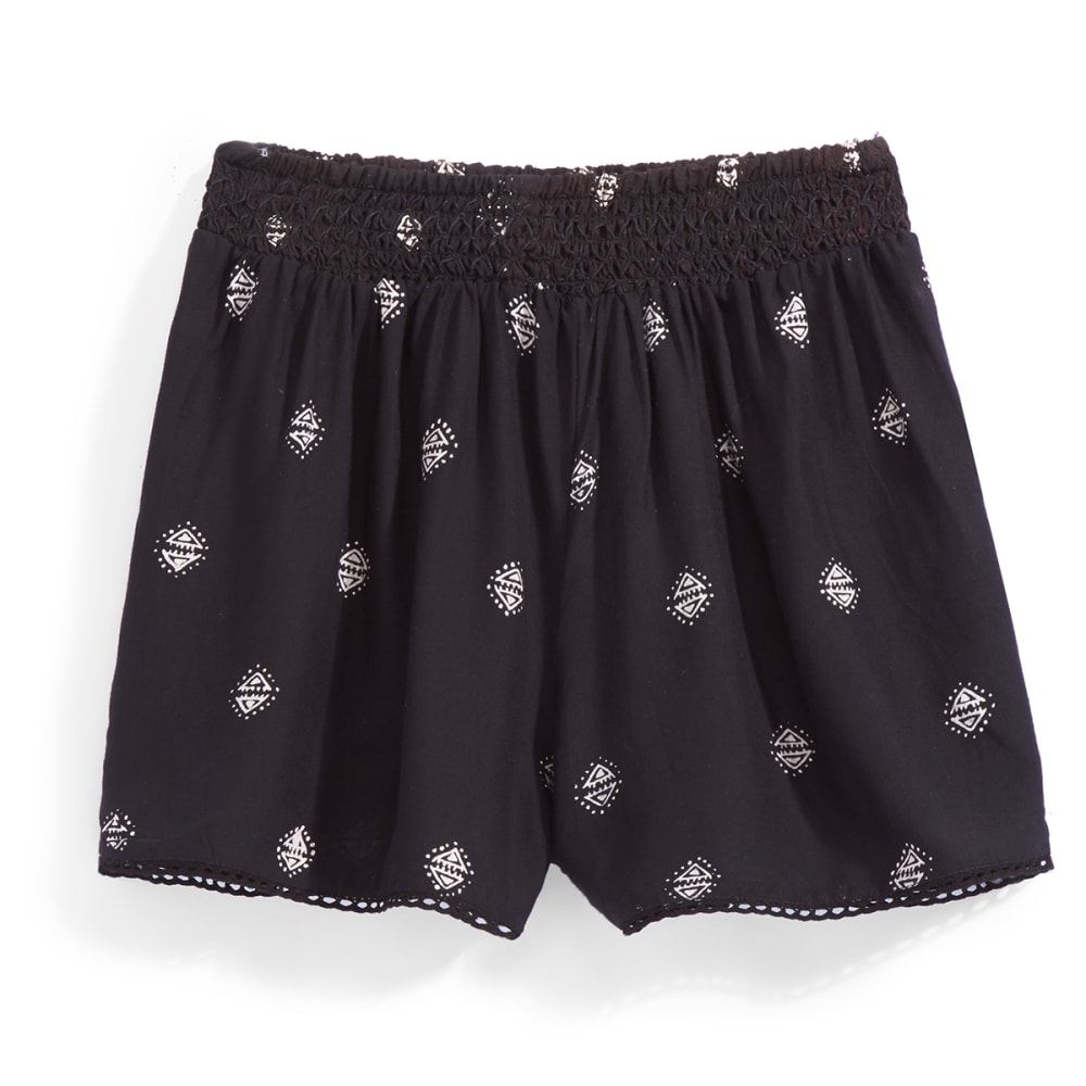 ANGIE Juniors' Printed Soft Shorts - A453 BLACK