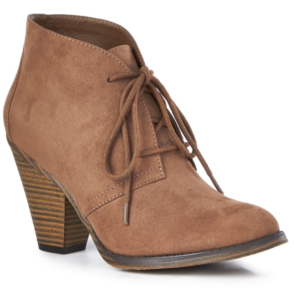 MIA Women's Shawna Cone Heel Bootie, Taupe 6
