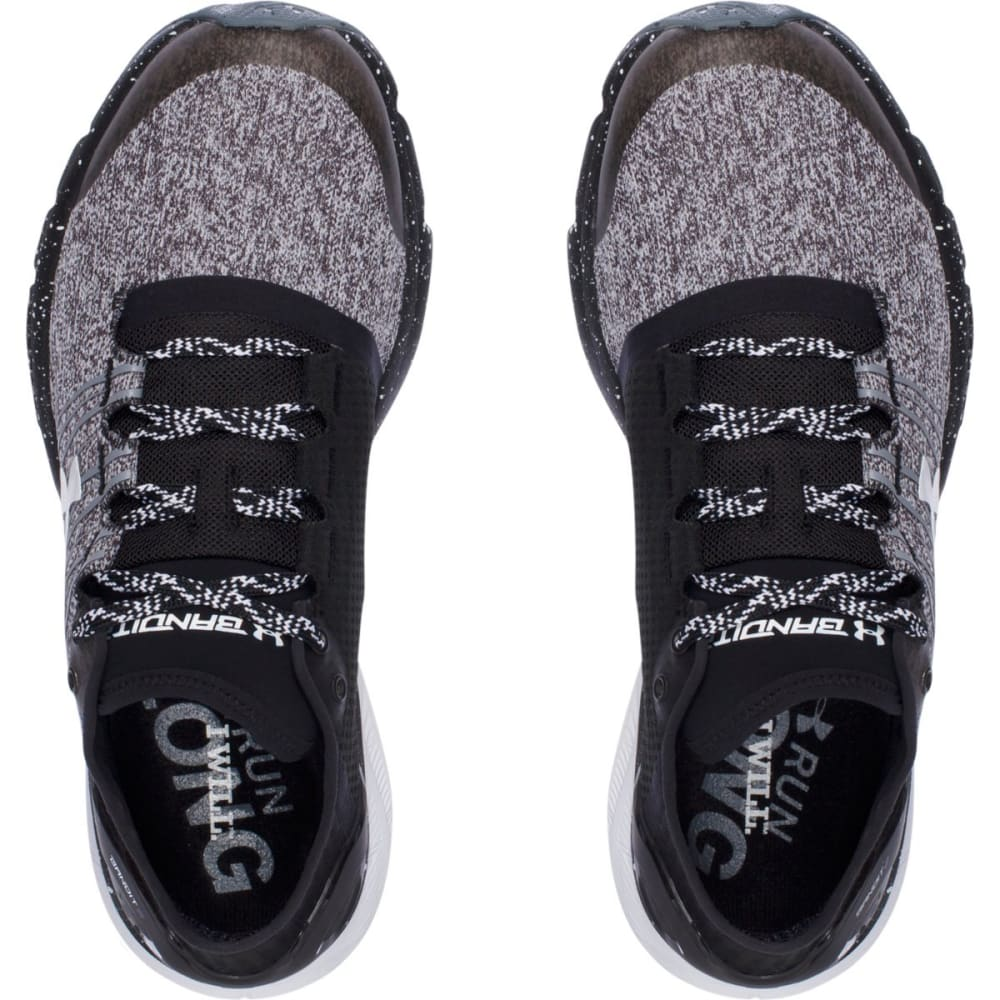 UNDER ARMOUR Women's Charged Bandit 2 Running Shoes - BLACK/WHITE
