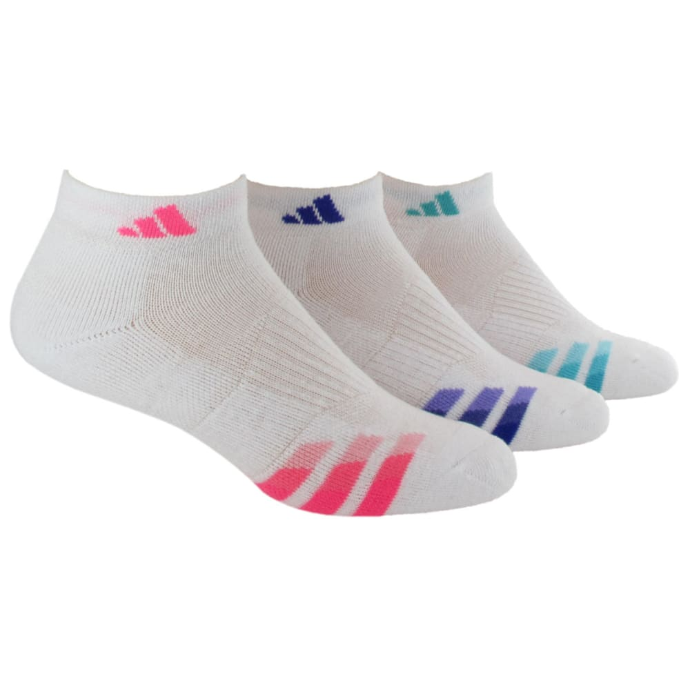 ADIDAS Women's 3-Pack Climalite Variegated Low-Cut Socks - WHITE/PNK 5135897