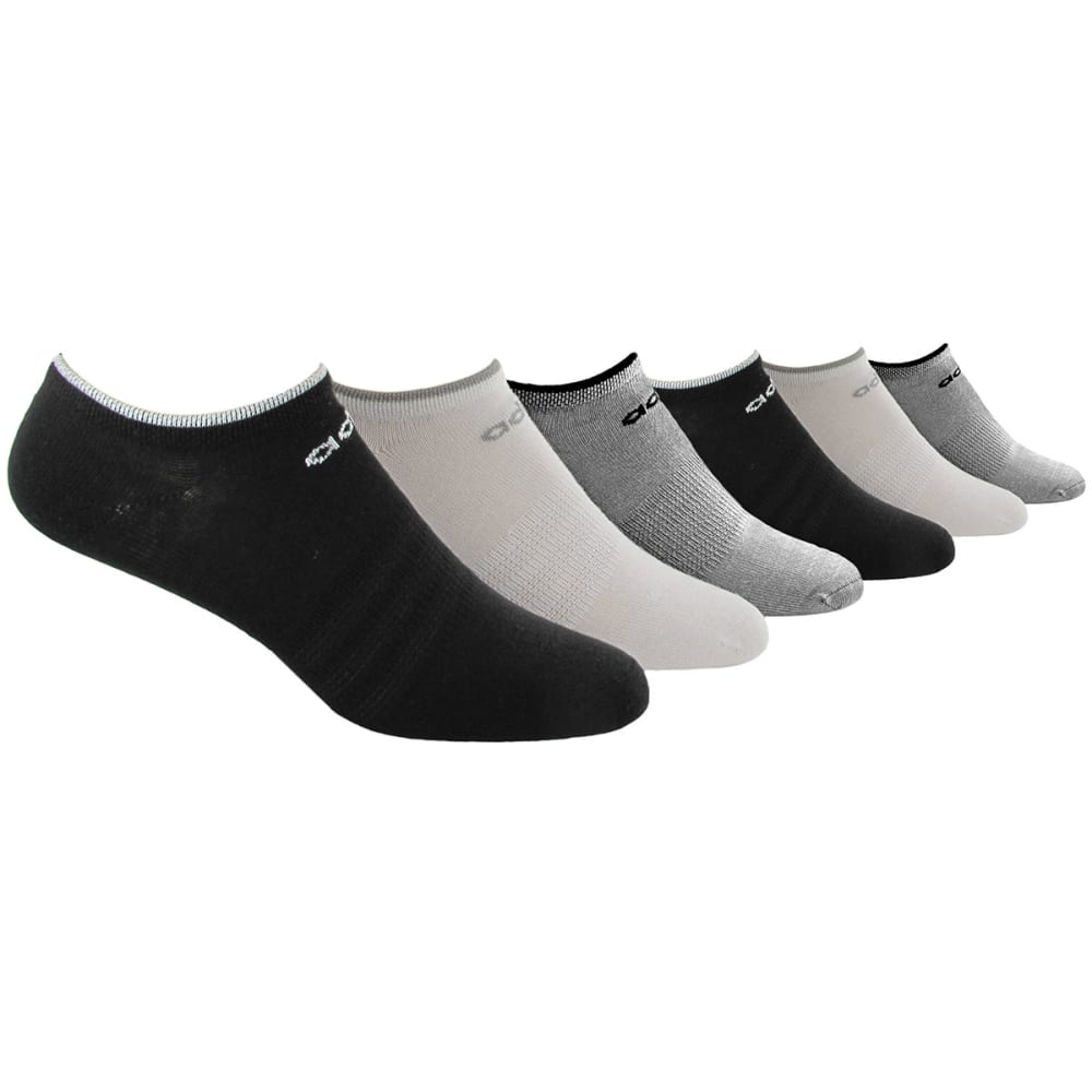 ADIDAS Women's Superlite No-Show Socks, 6-Pack - BLACK/GREY 5133850
