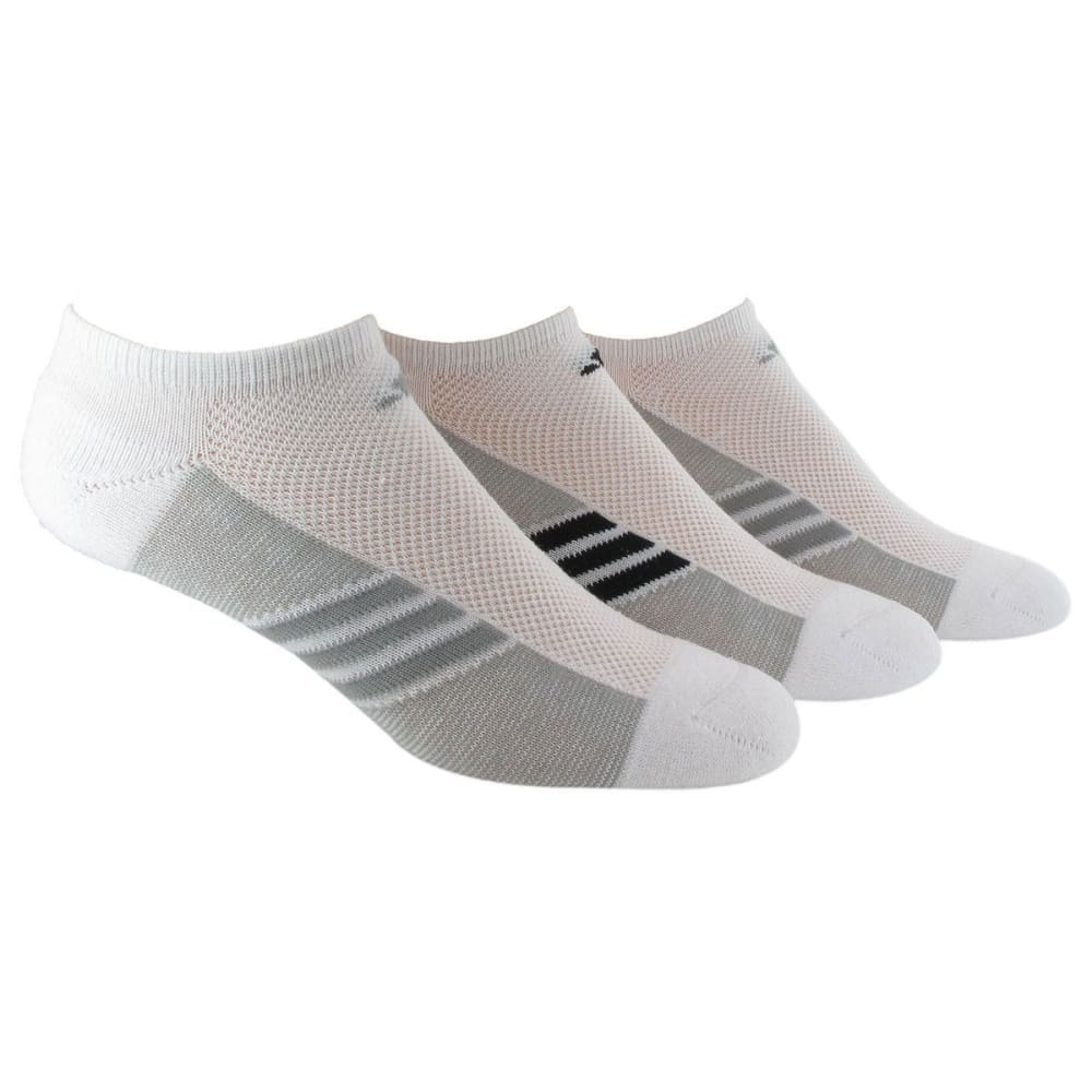 ADIDAS Women's Climalite Cool Superlite No Show Socks, 3 Pack - WHITE/BLACK 5135887