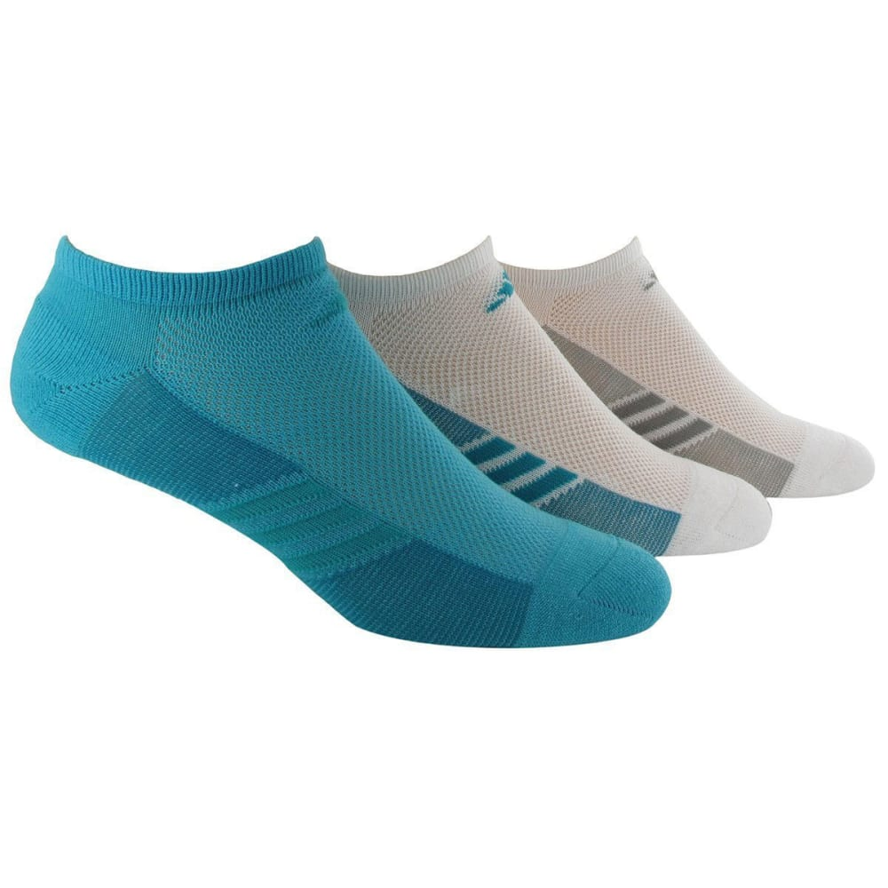 ADIDAS Women's Climalite Cool Superlite No Show Socks, 3 Pack - OTHER VARIOUS COLORS