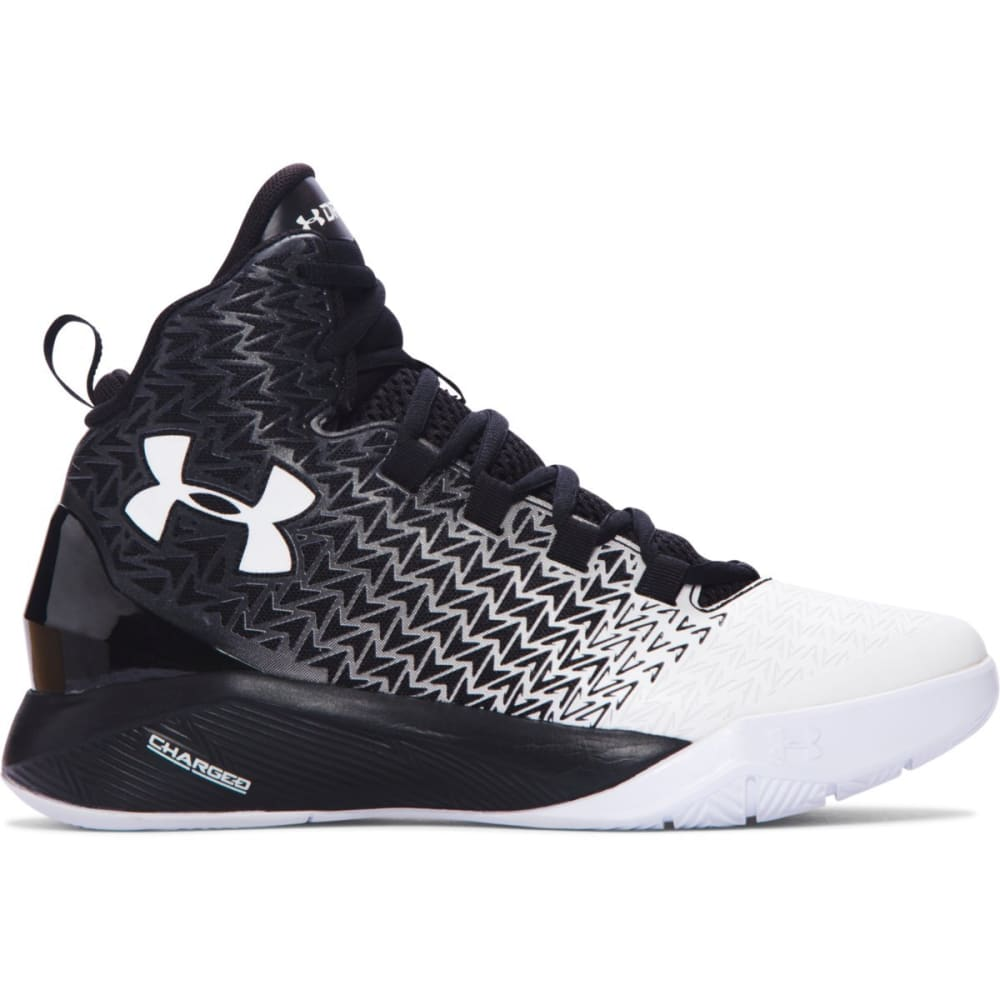 UNDER ARMOUR Boys' Grade School ClutchFit Drive 3 Basketball Shoes - BLACK/RED/SILVER