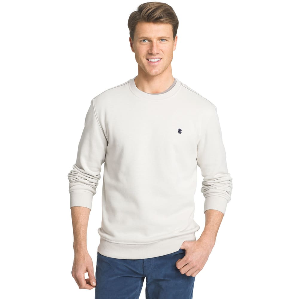 IZOD Men's Sueded Crewneck Fleece Pullover - 055-EDIFICE HTR