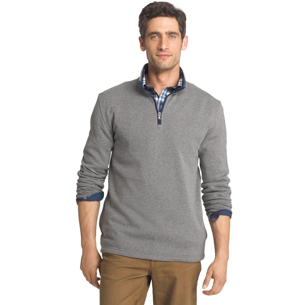 IZOD Men's Spectator ¼-Zip Sweater Fleece Pullover - 052-LT GREY HTR
