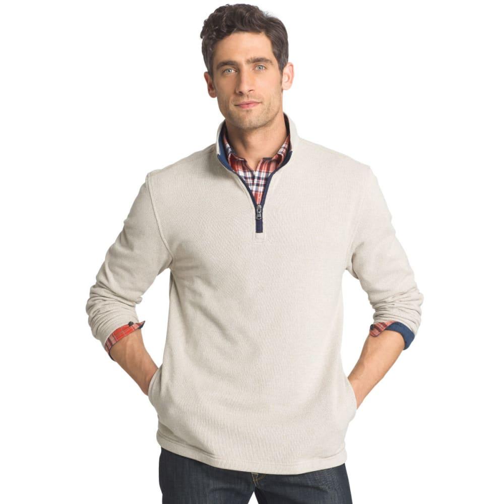 IZOD Men's Spectator ¼-Zip Sweater Fleece Pullover - 268-ROCK HTR