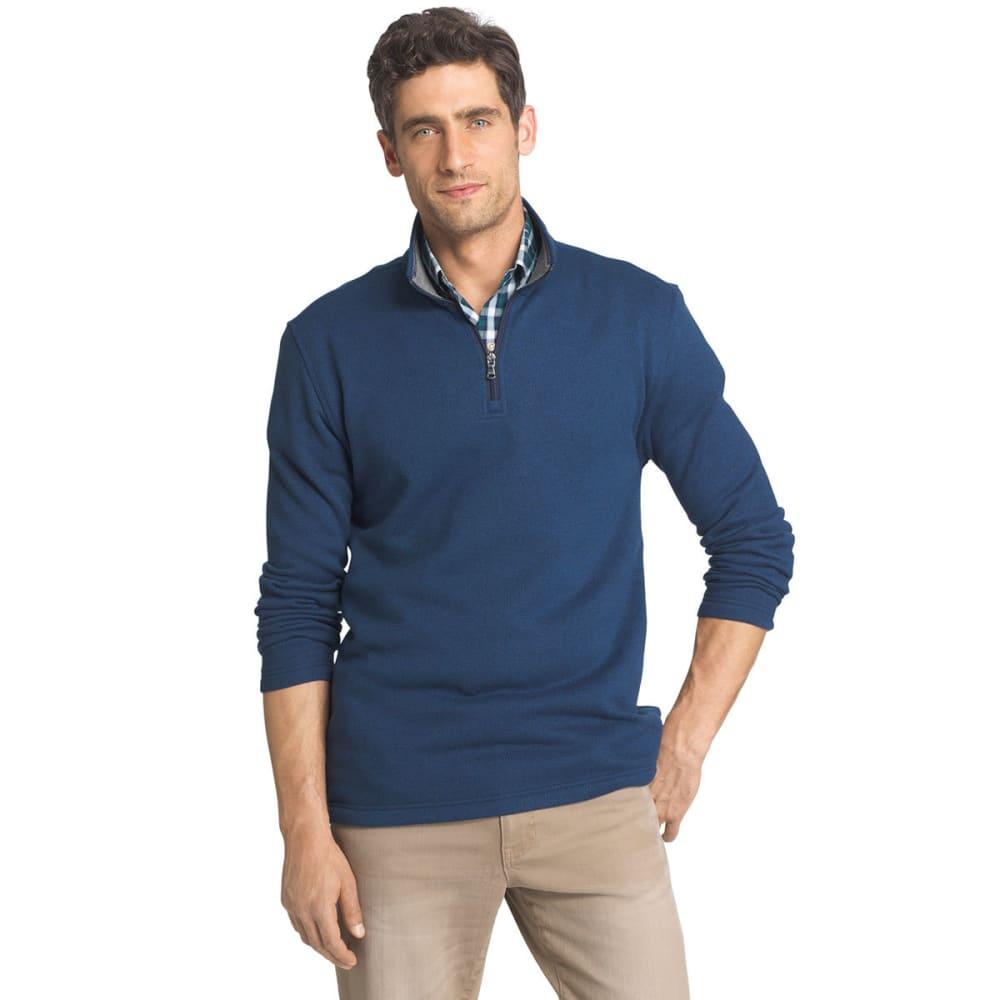 IZOD Men's Spectator ¼-Zip Sweater Fleece Pullover - 441-PEACOAT HTR