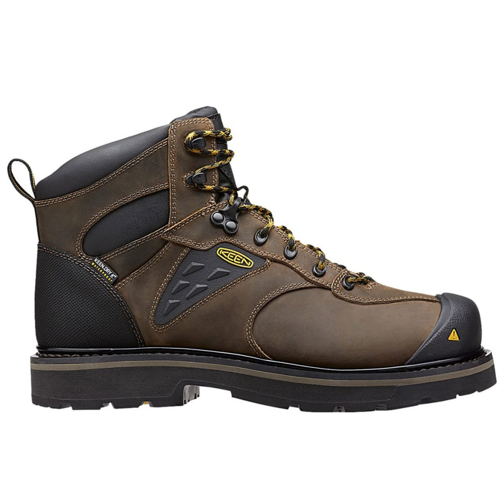 KEEN Men's Tacoma Waterproof Soft Toe Work Boots - CASCADE BROWN