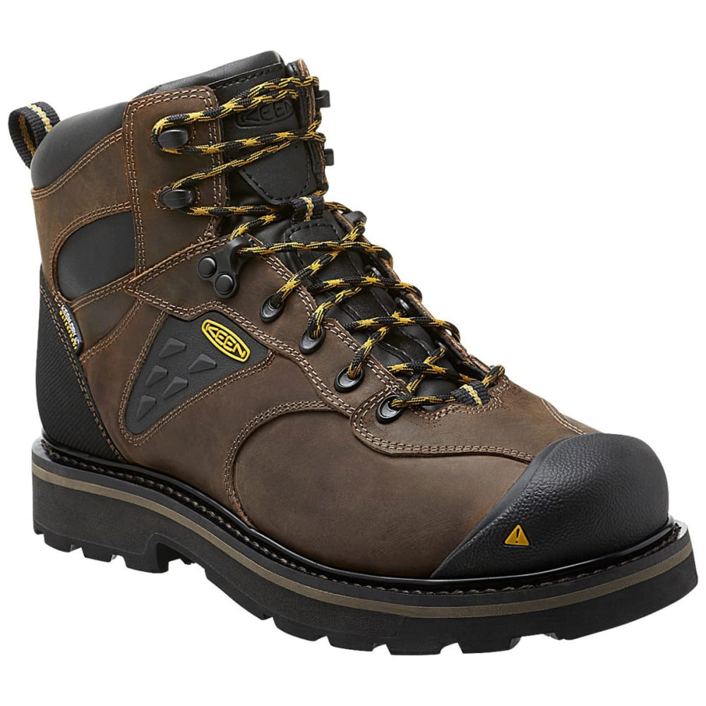 Keen Men's Tacoma Waterproof Soft Toe Work Boots - Brown, 8