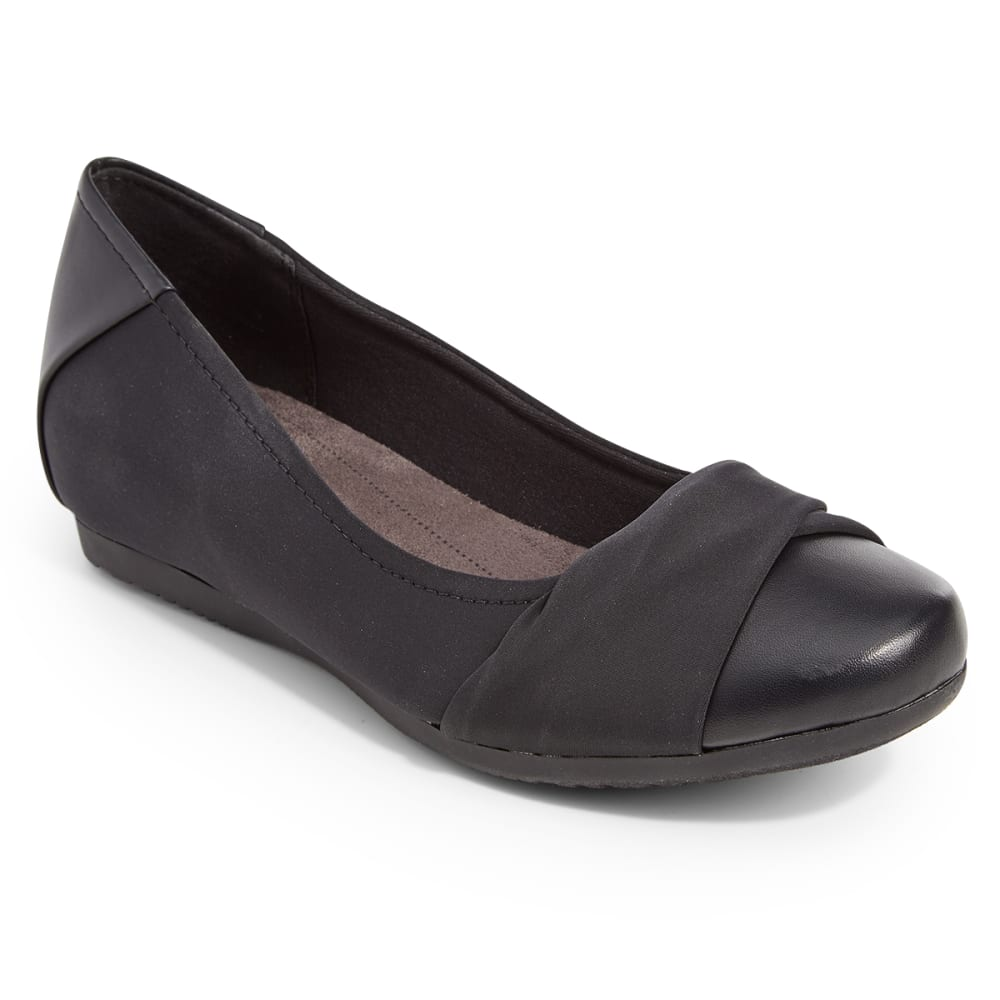 BARETRAPS Women's Mitsy Hidden Wedge Ballet Flats - BLACK