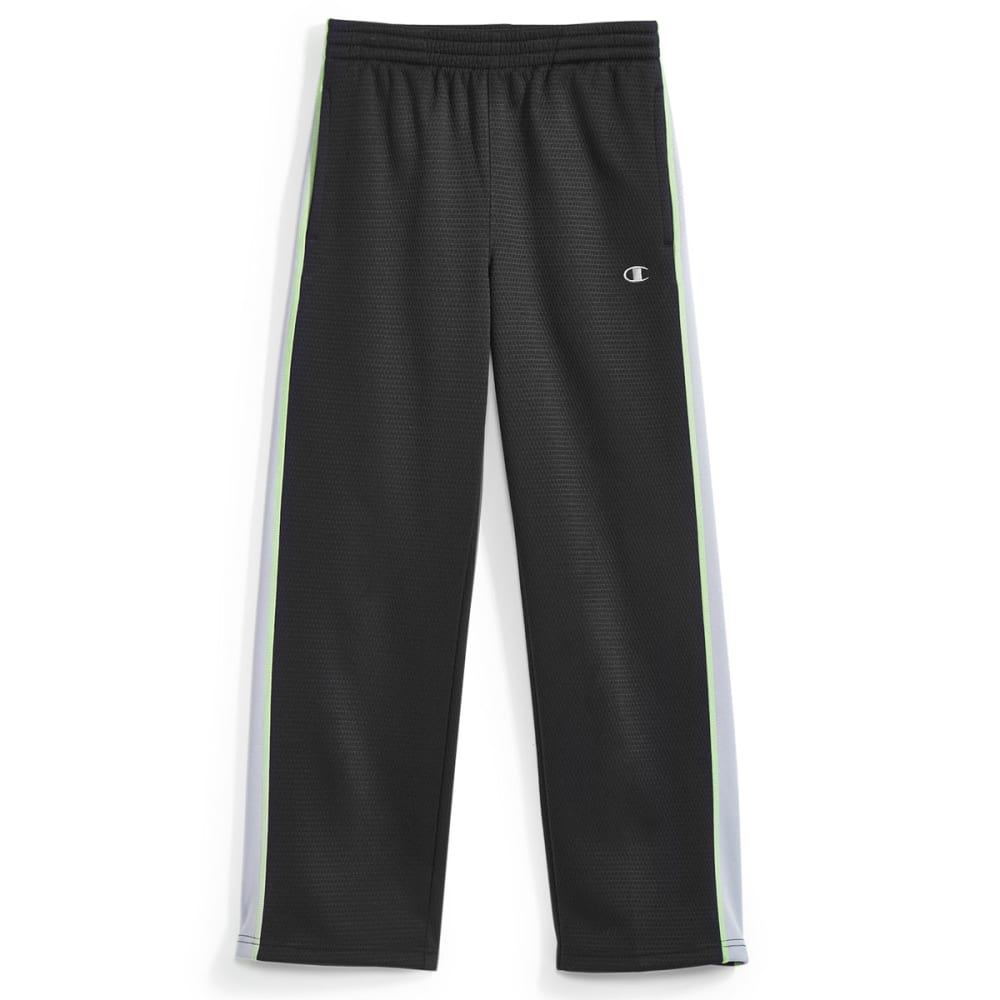 CHAMPION Boys' Straight Flight Pants - BLACK/CONCRETE