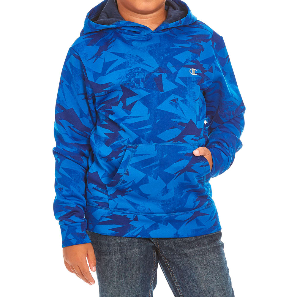 CHAMPION Boys' Warrior Pullover Hoodie - AWESOME BLUE/NAVY