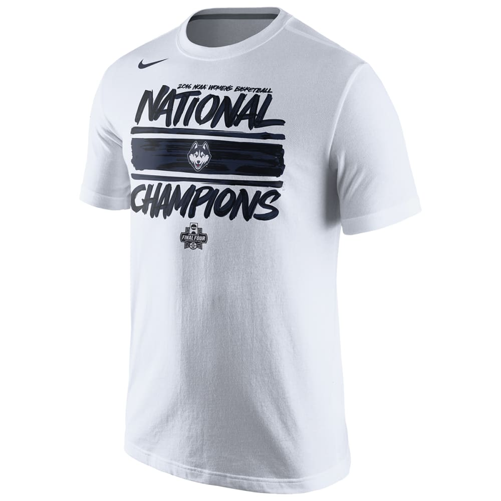 NIKE UCONN WOMEN Men's 2016 Championship Locker Room Tee - WHITE