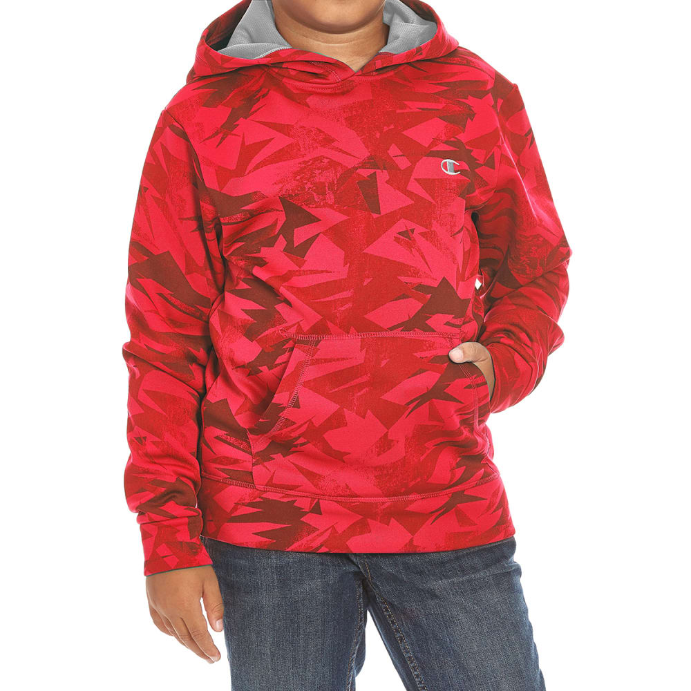 Champion Boys Warrior Pullover Hoodie - Red, L
