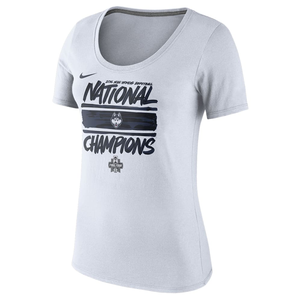 NIKE UCONN WOMEN Women's 2016 Championship Locker Room Tee - WHITE