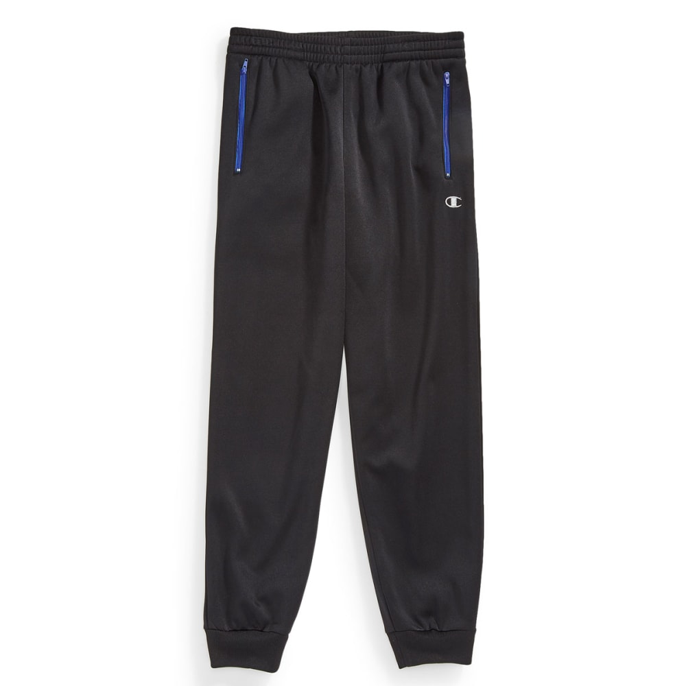 CHAMPION Boys' Up Front Jogger Pants - BLACK/AWESOME BLUE