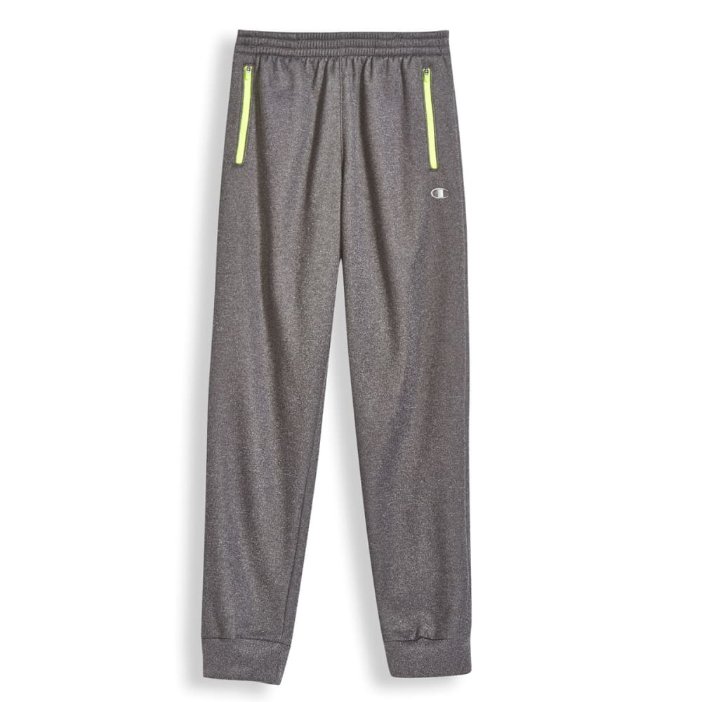 CHAMPION Boys' Up Front Jogger Pants - GRANITE/NEON SUN