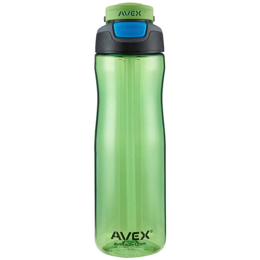 AVEX Brazos Autoseal Plastic Water Bottle - ELECTRIC GREEN