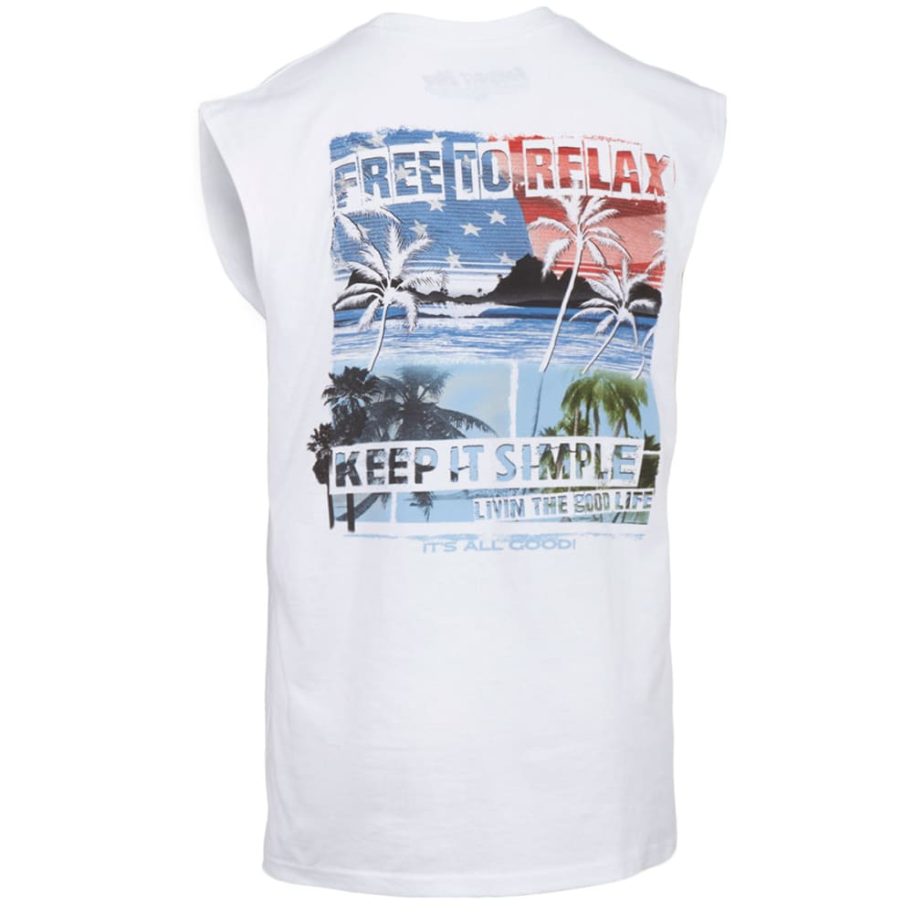 NEWPORT BLUE Men's Free to Relax Muscle Tank - 120-WHITE