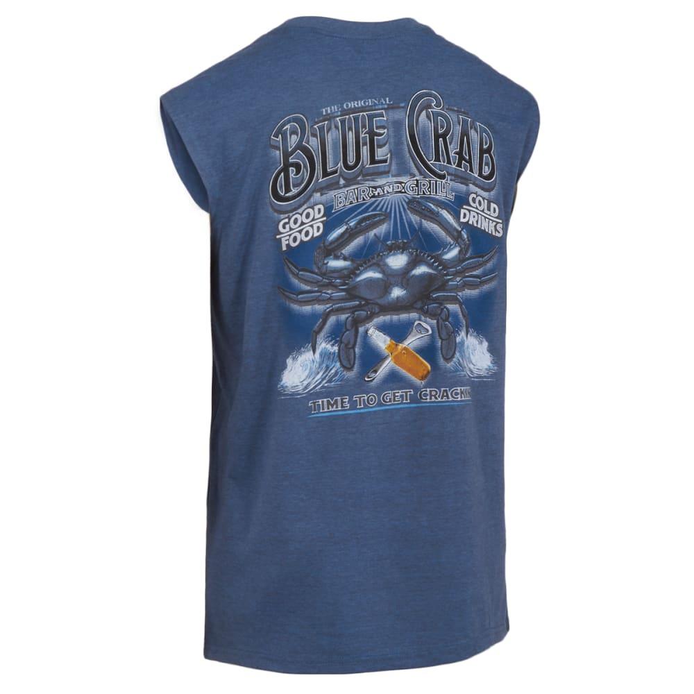 NEWPORT BLUE Men's Crab Bar and Grill Tank - 496-HTR OCEAN