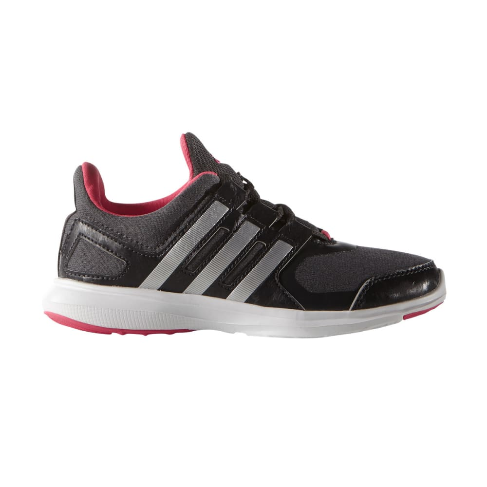 ADIDAS Girls' Hyperfast 2.0 K Running Shoes - GREY/SIL/CARBON