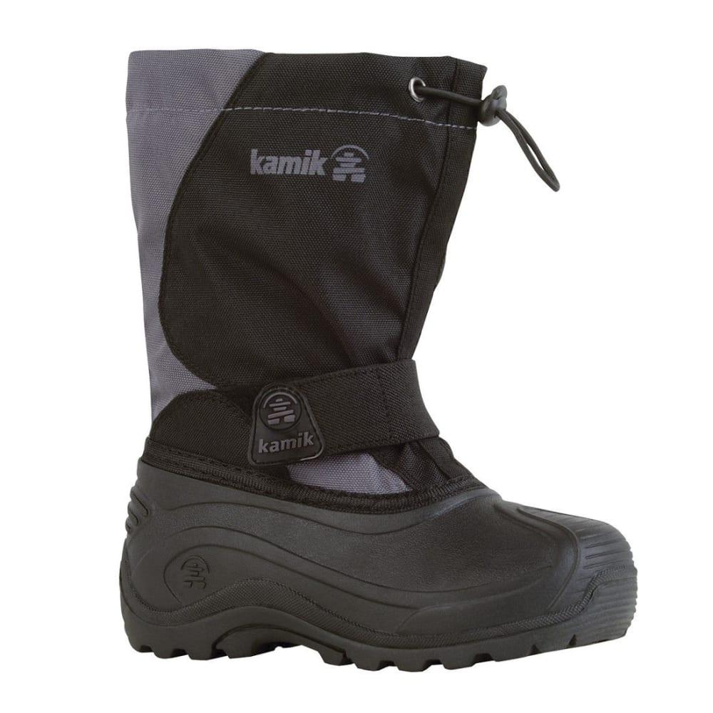 KAMIK Boys' Snowfox Boots - BLACK/CHARCOAL 1-6