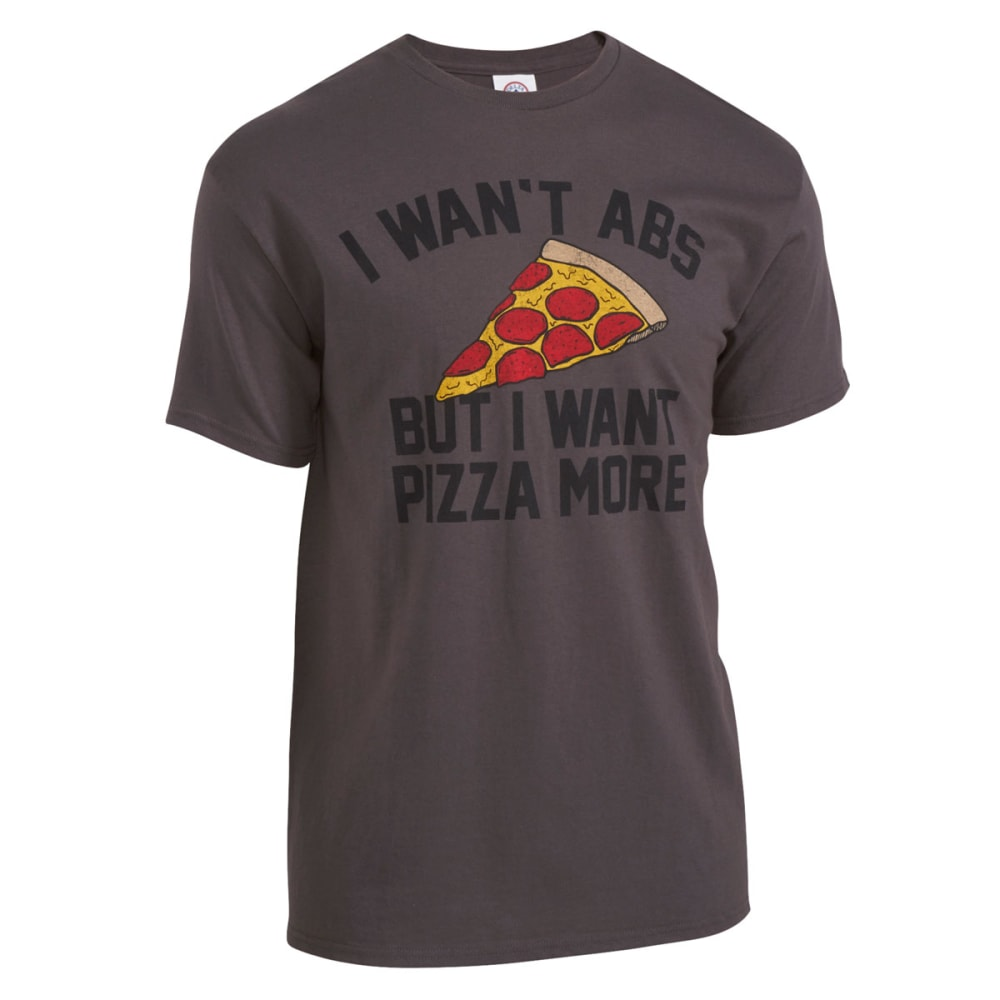 HYBRID Guys' Pizza Abs Tee - CHARCOAL