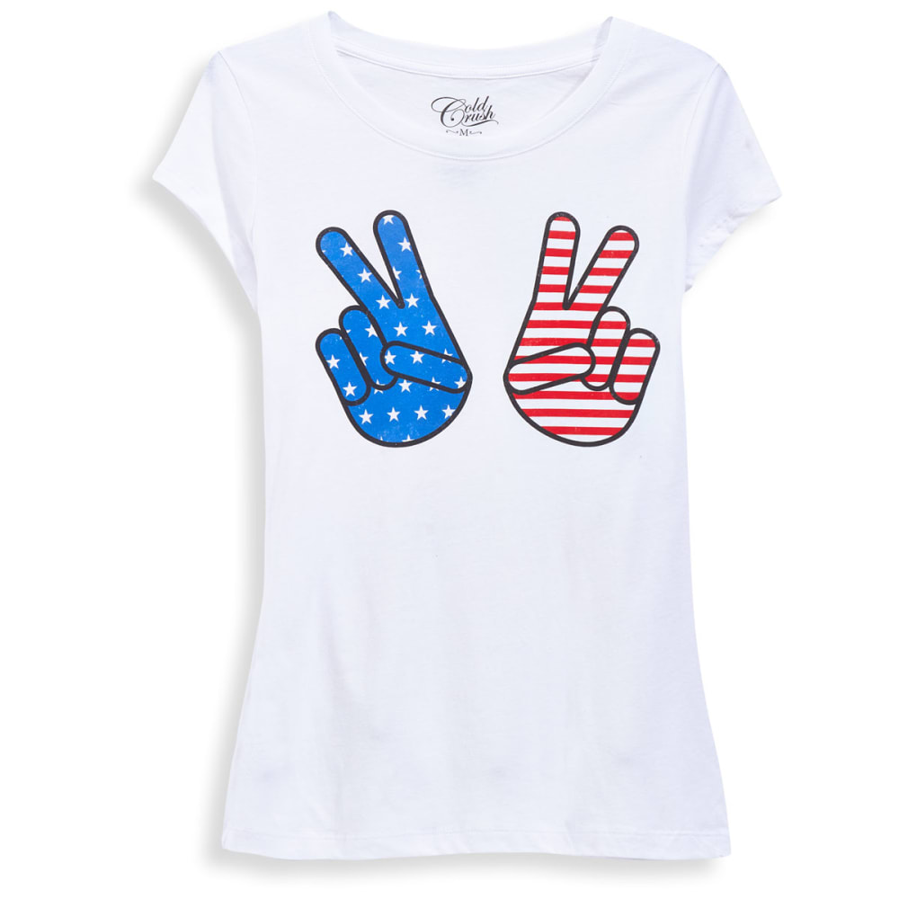 HYBRID Juniors' Americana Screen-Printed Tee - K471PEACEMERIAVICTRY