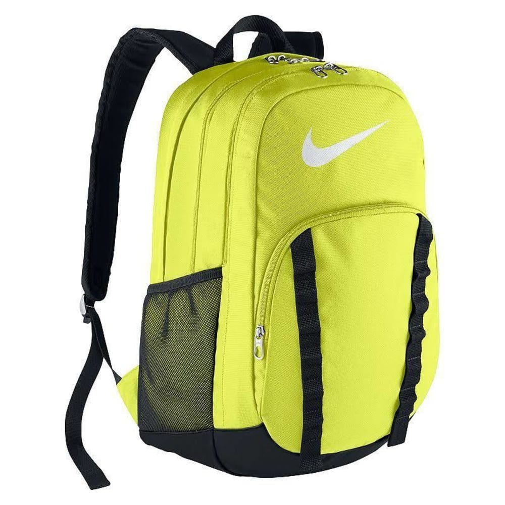 NIKE Brasilia 7 Backpack - VOLT/BLK 700